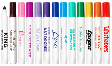 Personalized Washable Markers & Custom Printed Washable Markers