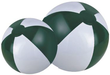 Personalized Forest Green/White Beach Balls & Custom Printed Forest Green/White Beach Balls