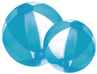 Personalized Translucent Blue/Clear Beach Balls & Custom Printed Translucent Blue/Clear Beach Balls