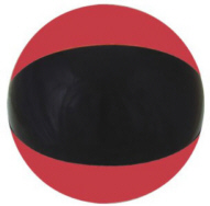 Personalized Black/Red Beach Balls & Custom Printed Black/Red Beach Balls