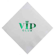 Personalized White Beverage Napkins & Custom Logo White Beverage Napkins