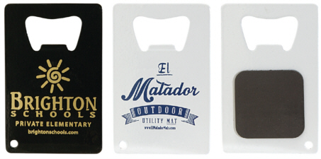 Personalized Credit Card Bottle Openers with Magnet & Custom Logo Credit Card Bottle Openers with Magnet