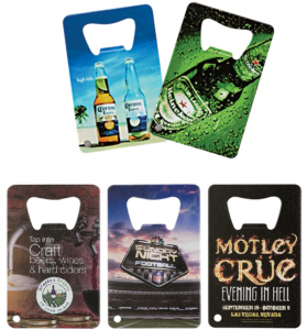 Personalized Credit Card Style Bottle Openers & Custom Logo Credit Card Style Bottle Openers