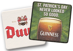 Personalized Pulpboard Coasters & Custom Printed Pulpboard Coasters
