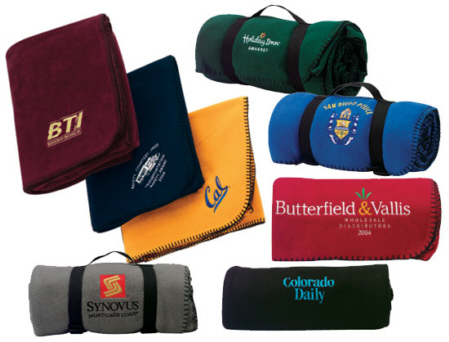 Personalized Fleece Blankets & Custom Embroidered Fleece Blankets