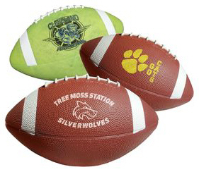 Personalized Rubber Footballs & Custom Logo Rubber Footballs
